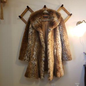 INC international concept faux fur coat